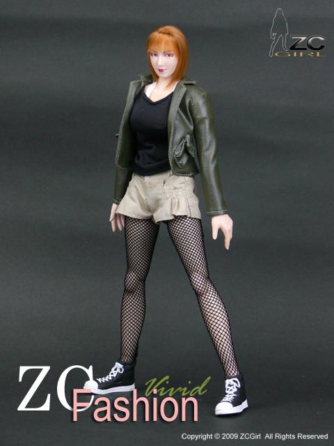 TC33-01 1//6 ZCGirl Julia Black Arm Sleeves